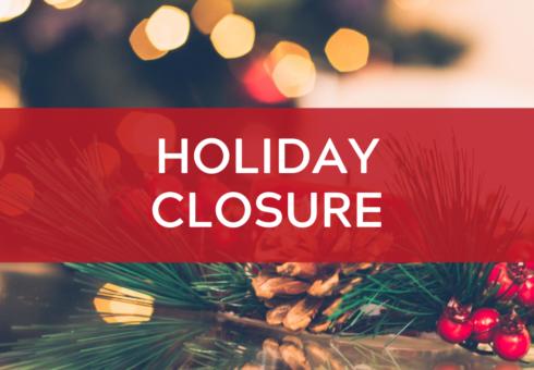 Holiday Closure: Christmas
