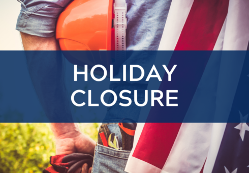 Holiday Closure: Labor Day 1