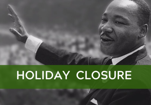 Holiday Office Closure: Martin Luther King Jr. Day