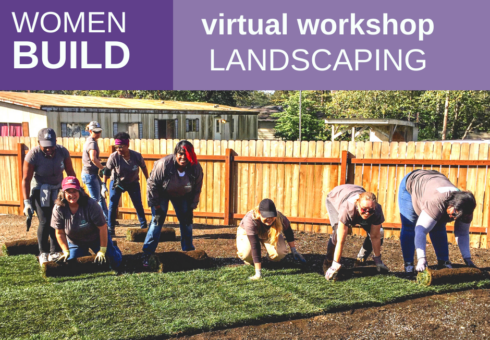 Women Build: Landscaping